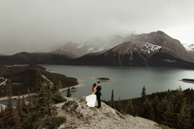 Kananaskis Hiking Elopement Photographers