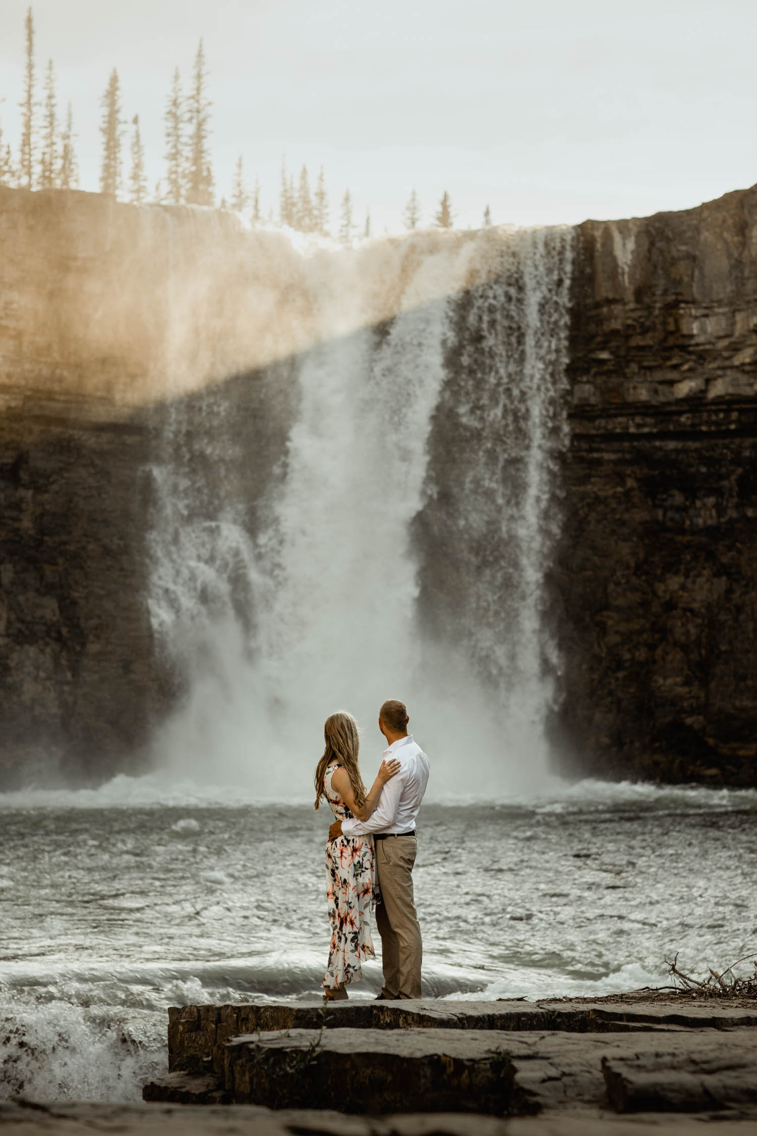 Abraham Lake Engagement Photography -crescent falls Engagement Photography