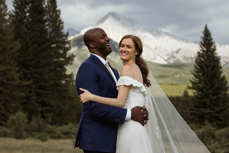 Banff Wedding Portrait