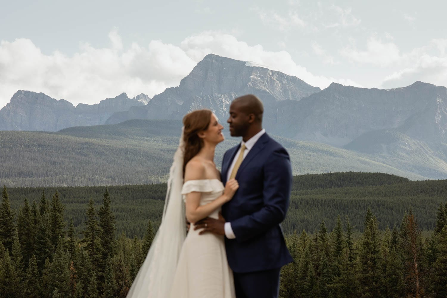 Banff Bride and Groom Mountains