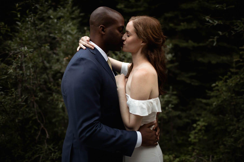Bride and Groom Kiss photo