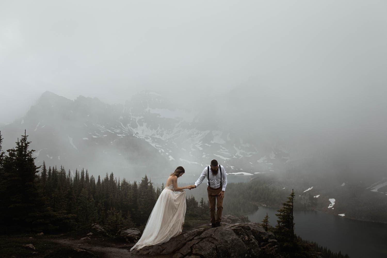 Moody Mountain Bridal Portraits
