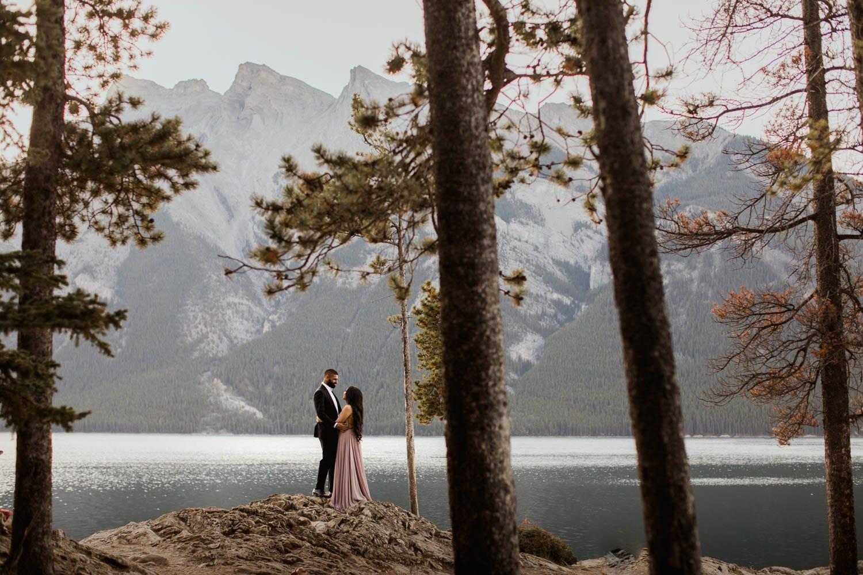 Wedding Photographers at Lake Minnewanka