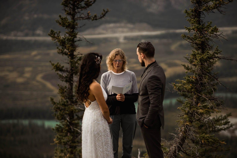 Banff mountain top ceremony