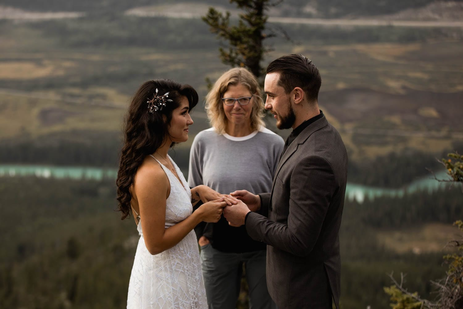 Banff ceremony on top of mountain
