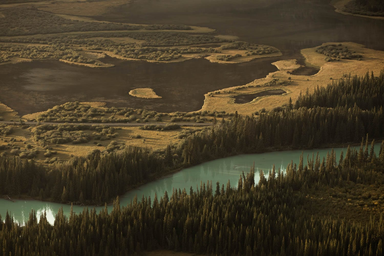 Banff river landscape