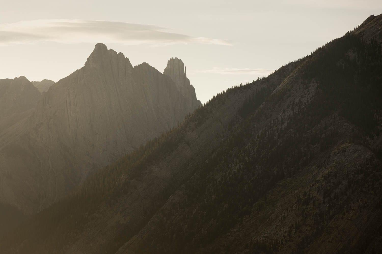 Banff sunset mountain landscape