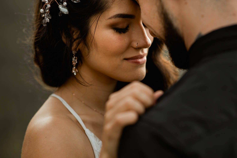 Banff Elopement bride portrait