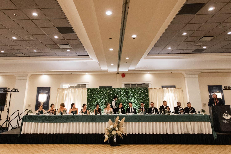 Edmonton Fantasyland Hotel Wedding Reception head table
