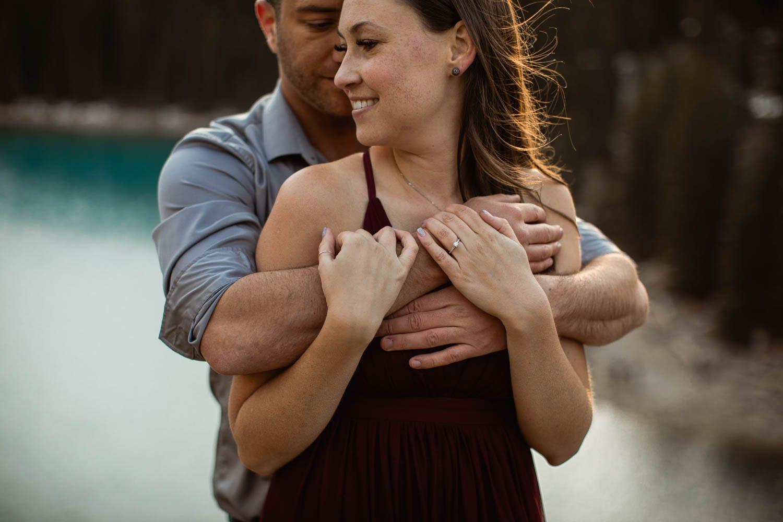 Moraine Lake Couples Hands