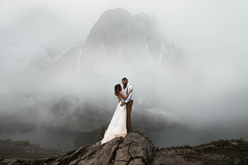 Backcountry heli Elopement Photographers