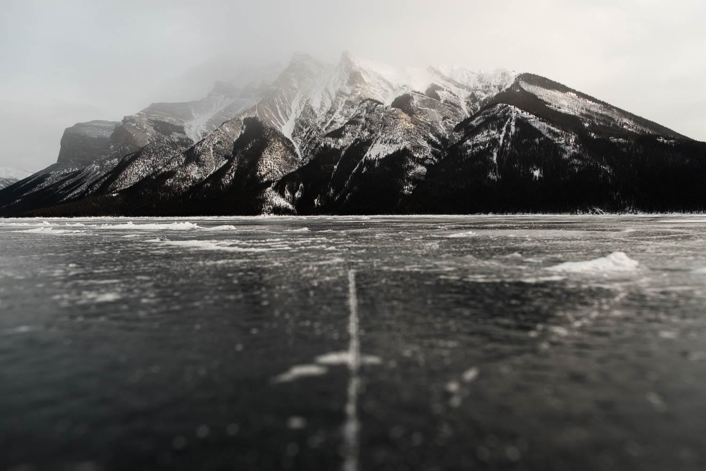 Lake Minnewanka Winter Skating