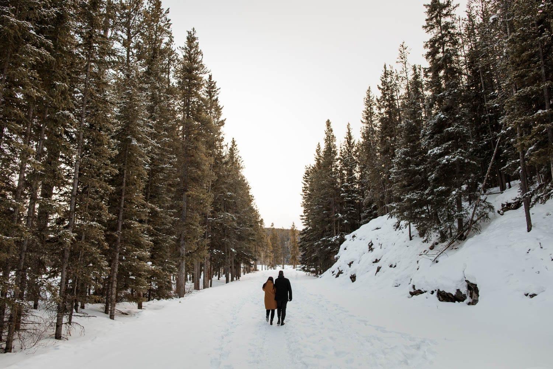 Banff winter walk