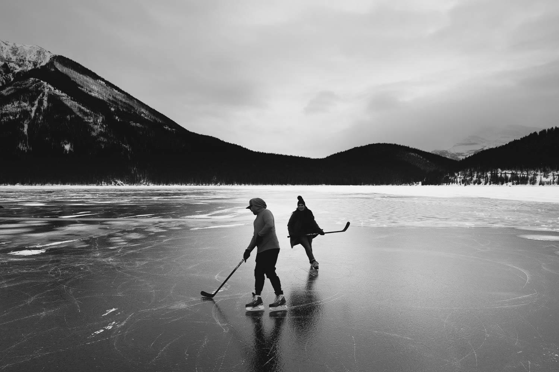 Banff Winter Skating Engagement
