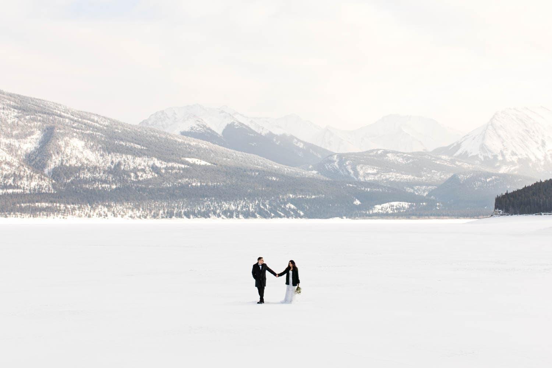 Abraham Lake Winter Elopement