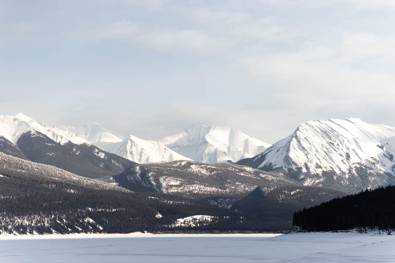 Abraham Lake Winter Scenery