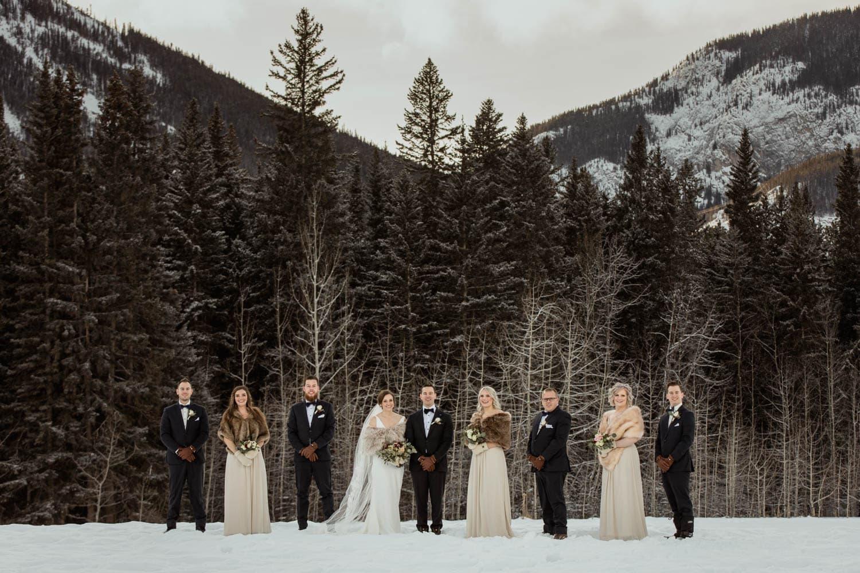 Winter Bridal Party Photos