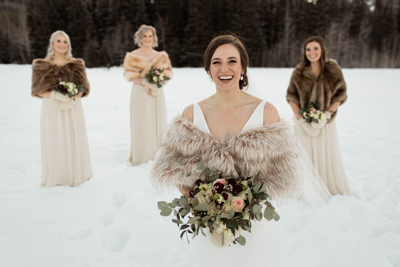 Winter Bridesmaids Photos