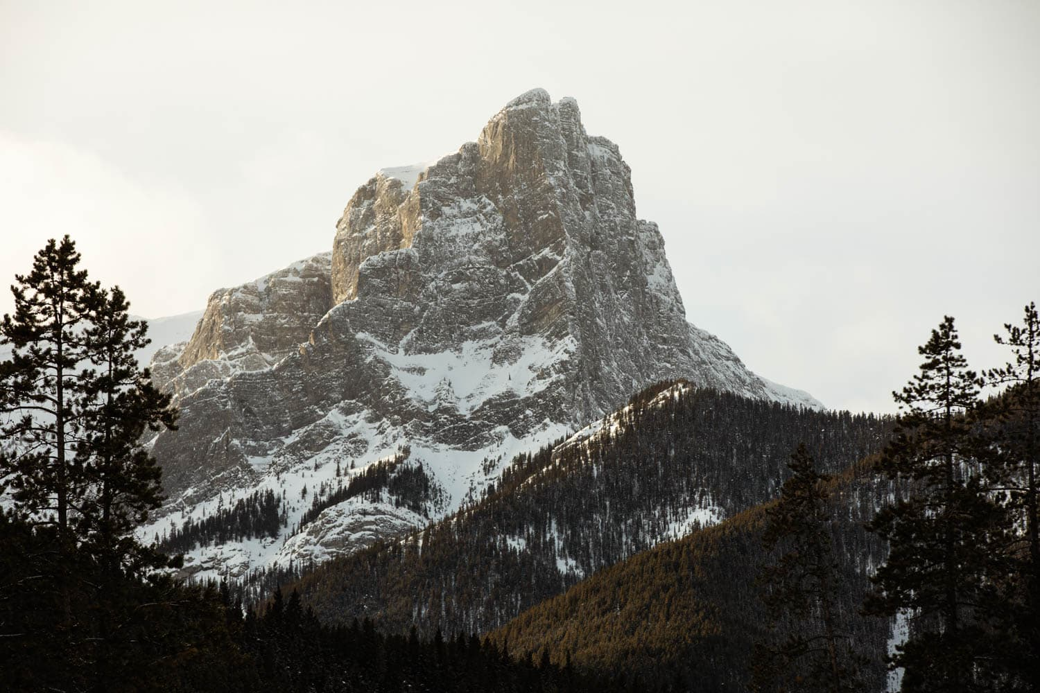 Canmore Winter Mountain