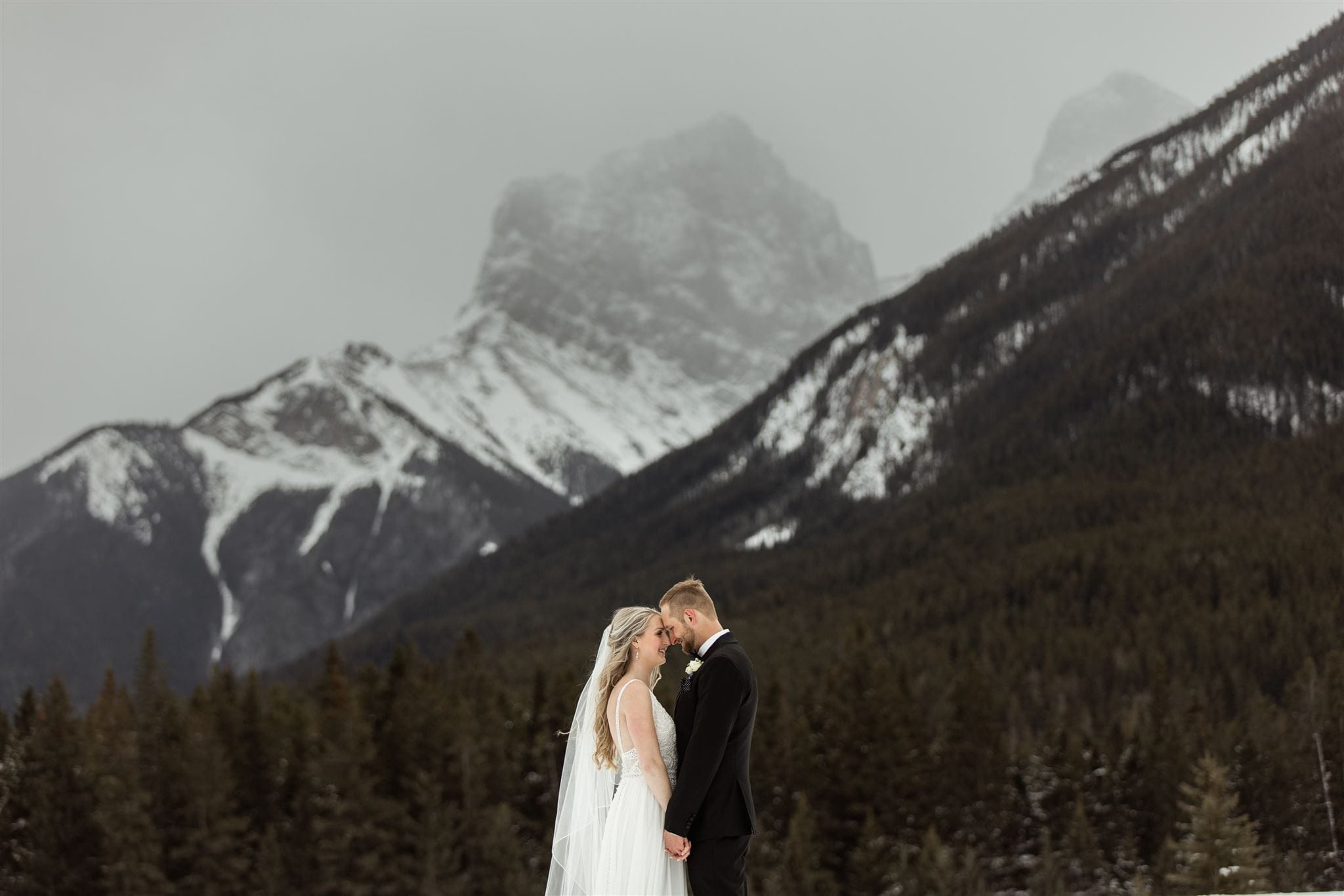 Canmore Winter Wedding Photographers